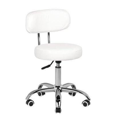 Merkloos Pedicure stoel met rugleuning  - Wit