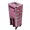 Mega Beauty Shop® Aluminium Trolley 3D Roze 3in1