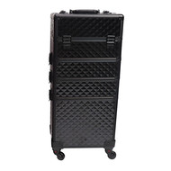 Mega Beauty Shop® Aluminium Trolley 3D Zwart  4in1