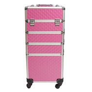 Mega Beauty Shop® Aluminium Trolley 3D Roze 4in1