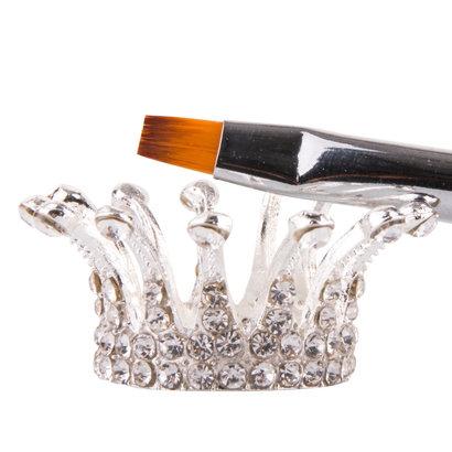 Mega Beauty Shop® Penseelhouder Kroontje - zilver
