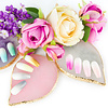 Mega Beauty Shop® Nail Art Display Stone Palet Paars (bladvorm)