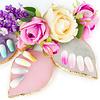 Mega Beauty Shop® Nail Art Display Stone Palet Wit (bladvorm)