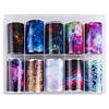 Merkloos Nagel transfer folie nail art set (02) Galaxy