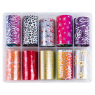Merkloos Nagel transfer folie nail art set (03) Animal and fantasy