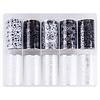 Merkloos Nagel transfer folie nail art set (04) Black and White flowers