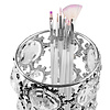 Mega Beauty Shop® Make up borstel & penseel houder groot - zilver