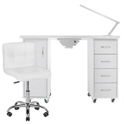 Mega Beauty Shop® Manicuretafel + Werkstoel incl. Tafellamp  (04)