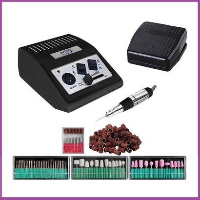 Mega Beauty Shop® Nagelfrees JD500 35Watt-zwart incl.111 delige nagelfrees bitjes en schuurrolletjes set.
