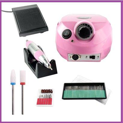 Mega Beauty Shop® Nagelfrees Roze   incl. 38 delige nagelfrees bit set.