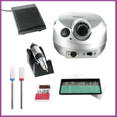 Mega Beauty Shop® Nagelfrees Zilver  incl. 38 delige nagelfrees bit set.