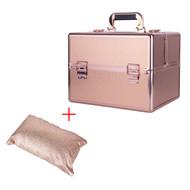Mega Beauty Shop® Aluminium Koffer Rosé Gold met opbergvakken INCL. armsteun