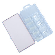Merkloos Tips clear tipbox 100 stuks zonder  opzetstuk