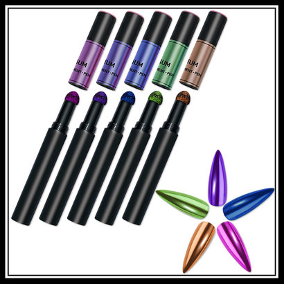 Mega Beauty Shop® Nail art Mirror pigment pen set (02)