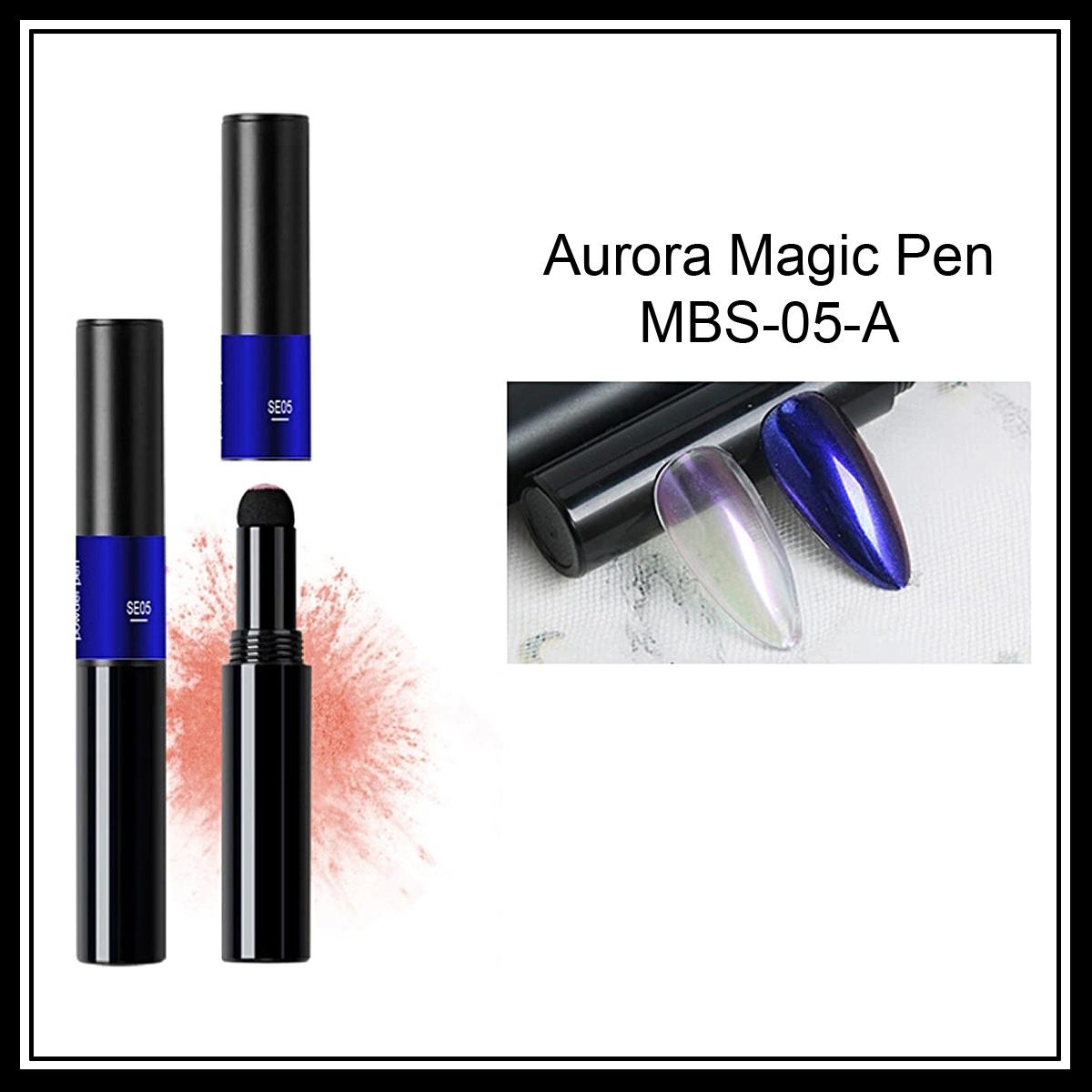 Nail art Aurora  pigment pen
