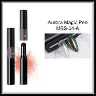 Mega Beauty Shop® Aurora pigment pen  Green-Lilac-Red