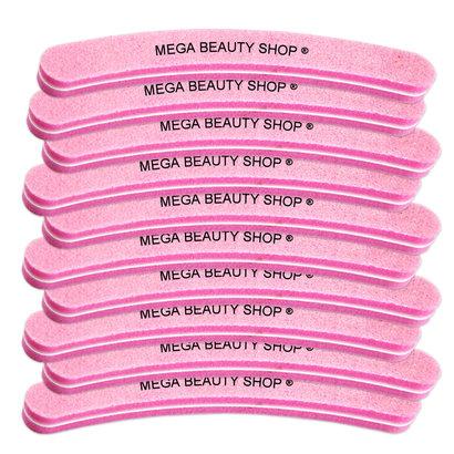 Mega Beauty Shop® Nail buffer Krom  (10stuk) Roze