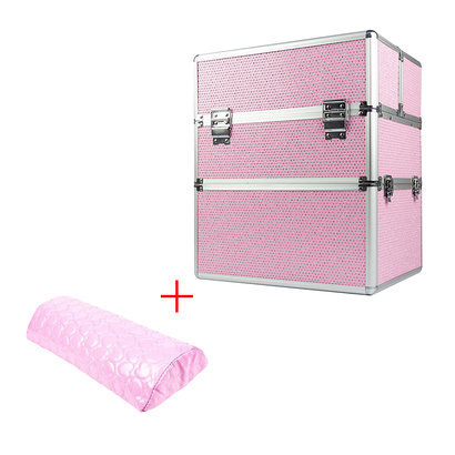Mega Beauty Shop® Koffer groot Roze met stras INCL. armsteun