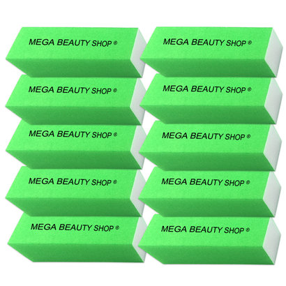 Mega Beauty Shop® Nagel polijstblok Neon Groen (10stuk)