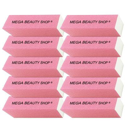 Mega Beauty Shop® Nagel polijstblok Neon Roze (10stuk)