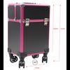 Mega Beauty Shop® Aluminium Trolley Zwart/roze