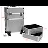 Mega Beauty Shop® Aluminium Trolley 3D Zilver 4in1