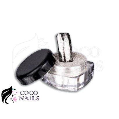 Merkloos Mirror pigment poeder Zilver/Zwart