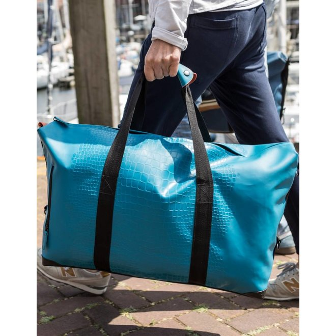 DUFFELBAG LARGE HAPPY ALLIGATOR - PETROL BLUE
