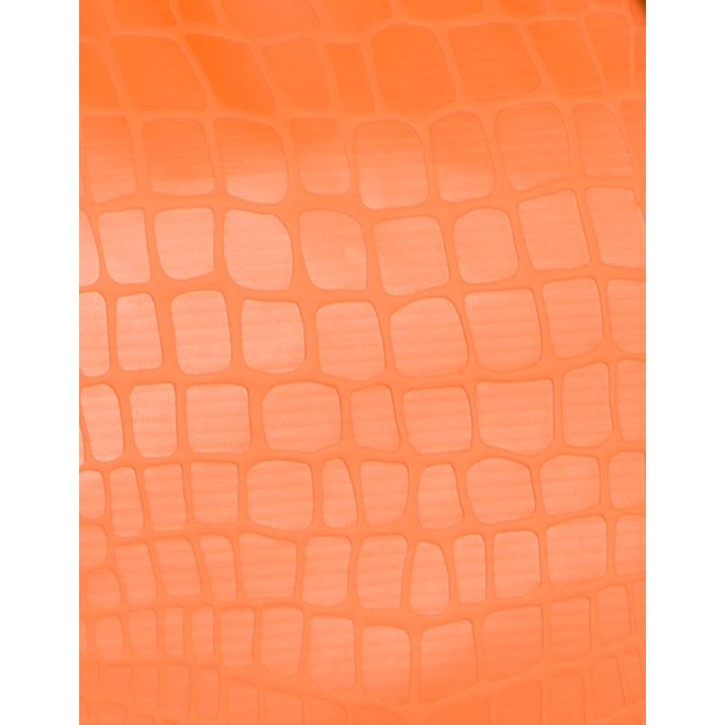 DUFFELBAG LARGE HAPPY ALLIGATOR - ORANGE
