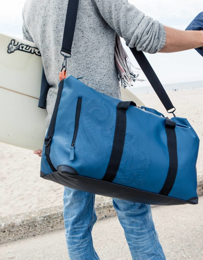 DavidMartinBags.com Painless Tattoo Travelbag, Denim Dark Blue