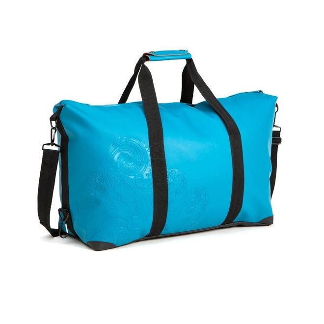 DUFFELBAG LARGE PAINLESS TATTOO - PETROL BLUE