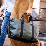 Travelbag Medium Happy Alligator - Dark Olive Green
