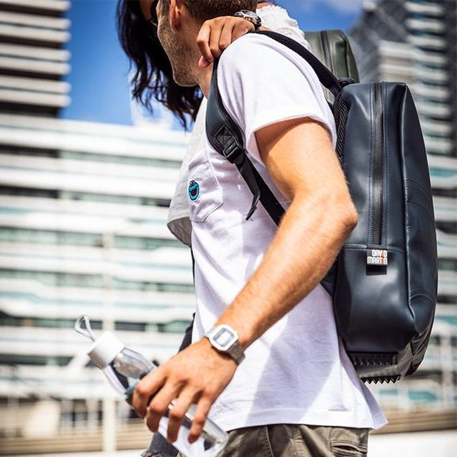 BACKPACK LET'S GET LOST - DARK GREY