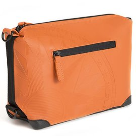 DavidMartinBags.com Travelkit Let's Get Lost, Terra Cotta Orange