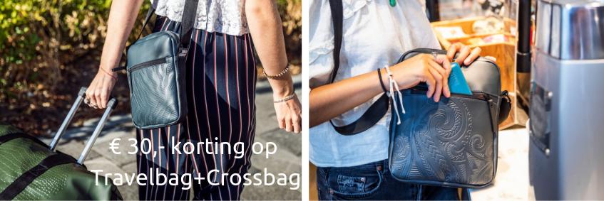 Crossbag 30 euro korting met Travelbag