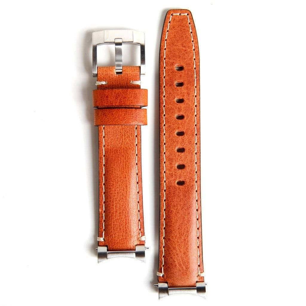 Everest Rolex straps Everest Leather Strap Tan Steel end Link, EH3TAN