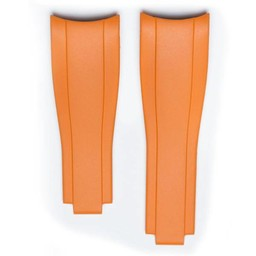 Everest Rolex straps Orange Rubber 6 by 6, EH7ORG66
