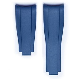 Everest Rolex straps Blue  Rubber 4 by 6, EH7BLU46