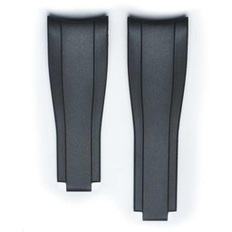 Everest Rolex straps black Rubber 4 by 6, EH7BLK46