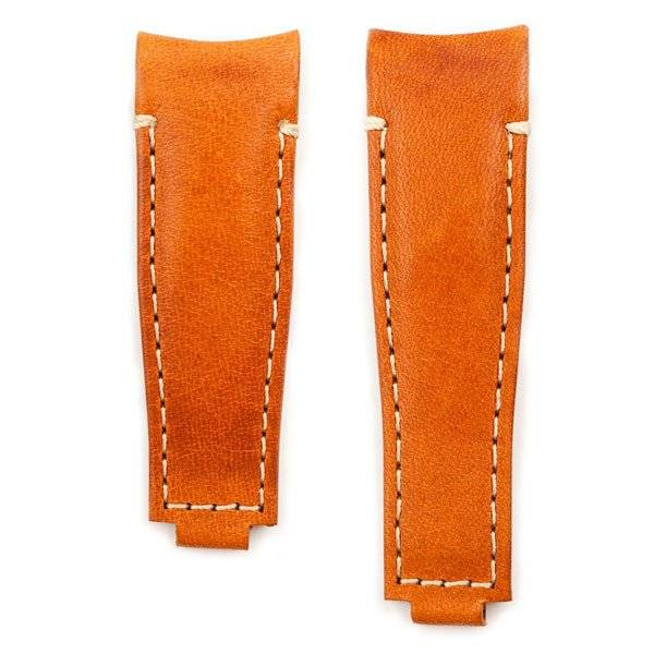Everest Rolex straps Everest Leather Strap Curved End Tan for Rolex, EH9TAN