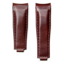 Everest Rolex straps Leather Strap Curved End Brown for Rolex, EH9BRN