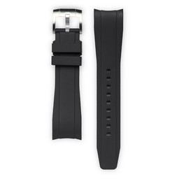 Everest Rolex straps Rubber Strap with Tang Buckle Black DeepSea, EH10BLK