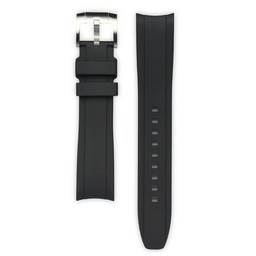 Everest Rolex straps Rubber Strap with Tang Buckle Black, EH5BLK
