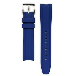 Everest Rolex straps Rubber Strap with Tang Buckle Blue, EH5BLU
