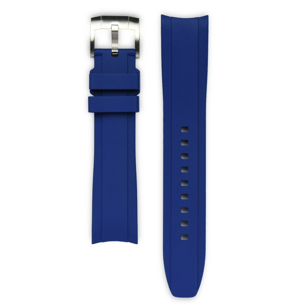 Everest Rolex straps Everest Rubber Strap with Tang Buckle Blue, EH5BLU