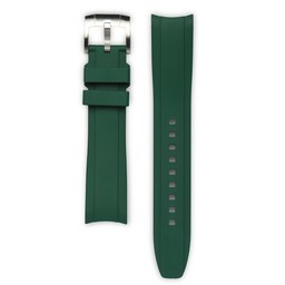 Everest Rolex straps Rubber Strap with Tang Buckle Green, EH5GRE