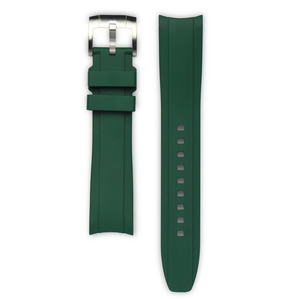 Everest Rolex straps Everest Rubber Strap with Tang Buckle Green, EH5GRE