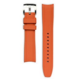 Everest Rolex straps Rubber Strap with Tang Buckle Orange, EH5ORG
