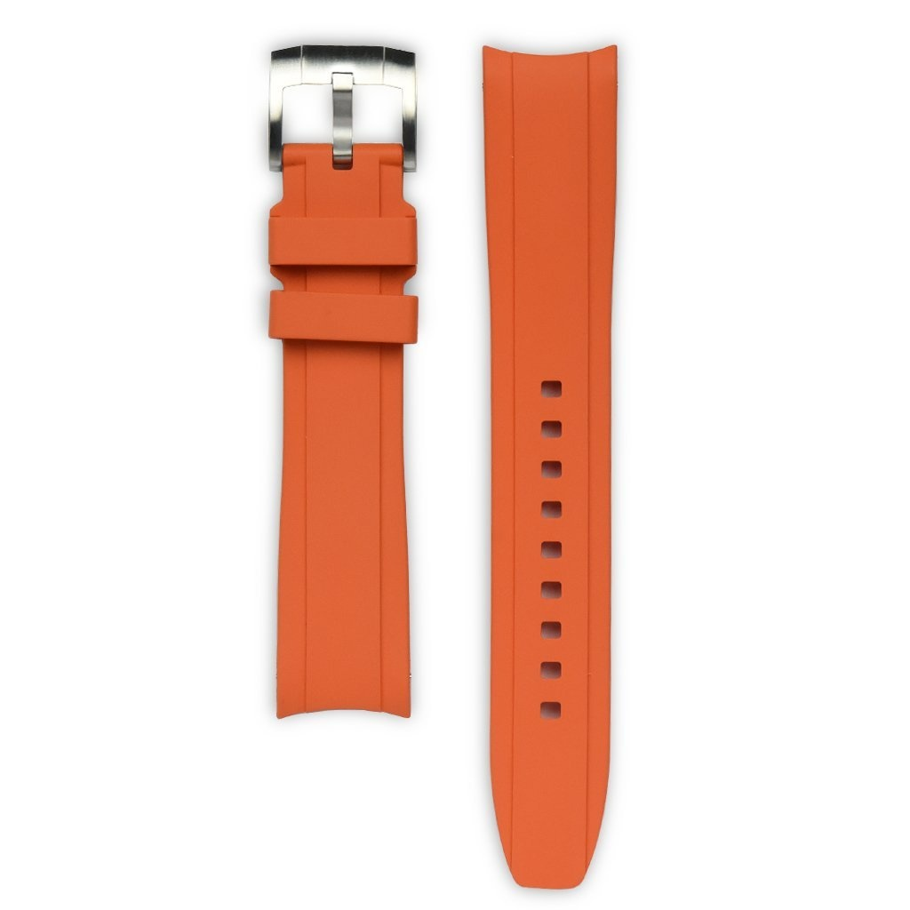 Everest Rolex straps Everest Rubber Strap with Tang Buckle Orange, EH5ORG