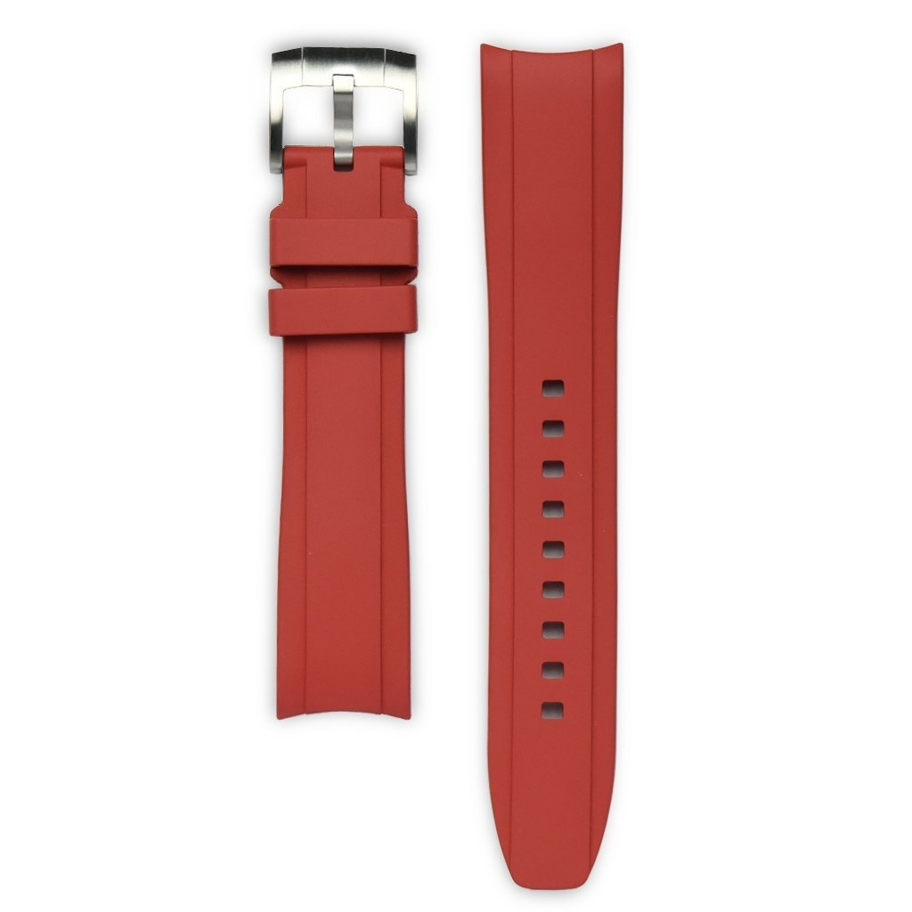 Everest Rolex straps Everest Rubber Strap with Tang Buckle Red , EH5RED